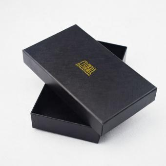 Cardboard Gift Box with Logo Gold Hot Stamping