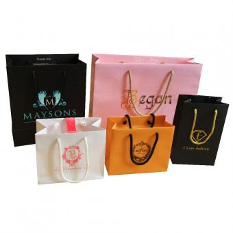 paper shopping bag with handle supplier