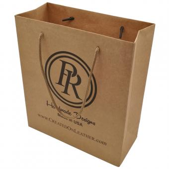 Wholesale china gift shopping craft brown kraft paper bag