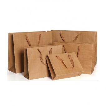 Wholesale Custom Print Shopping Packaging Kraft Paper Bag
