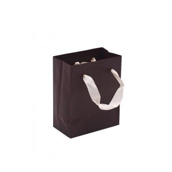 Custom logo art paper jewelry paper bag with handle