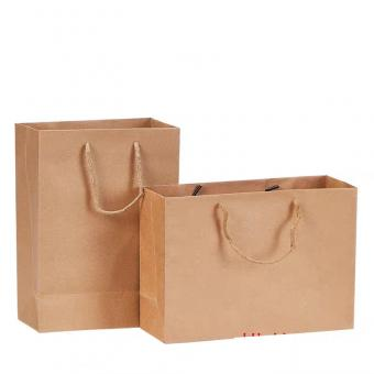 cheap brown kraft paper bag with handle kraft recycle paper bag
