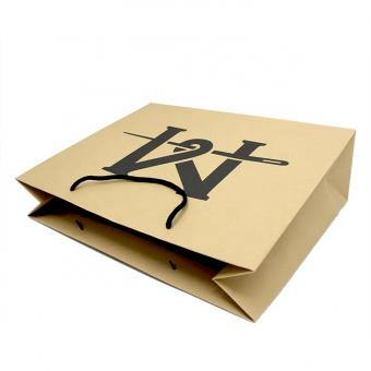 Hot sale strong recycled logo printing cheap brown kraft paper bags with handles
