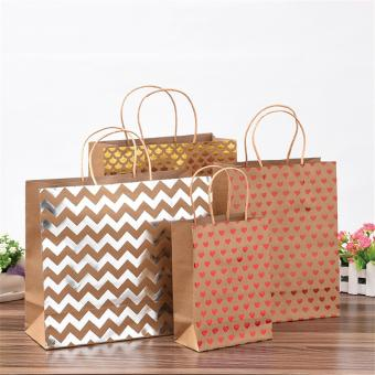 cheap Special Christmas mini gift paper carrier shopping bag of paper material kraft paper bag china