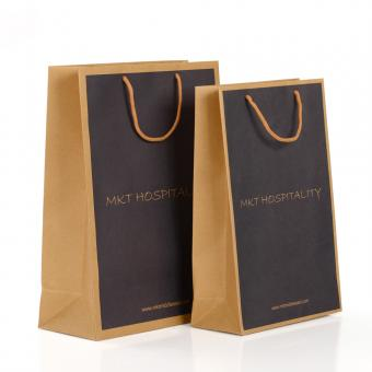 Luxury Handmade Custom Color Print Cheap Garment Shopping Recycle Brown Kraft Paper Bag with Handle