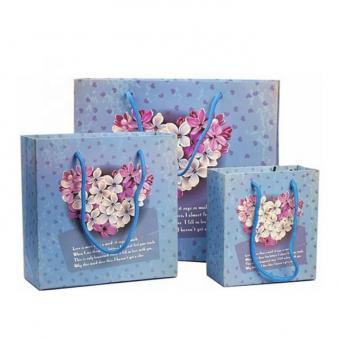 Free Sample Promotional Cheap Custom Design Small Full Colour Printing Paper Bag With Handles