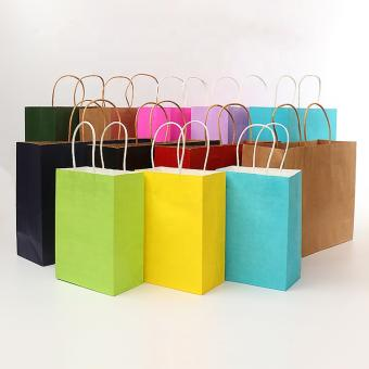 Supplier Custom Blank Recycled Kraft Handle Paper Bags for Packaging