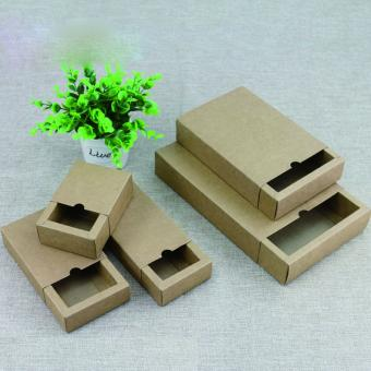 Custom logo sliding drawer packaging box recycled kraft paper gift box