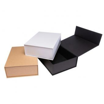 Recycled custom collapsible brown carton magnetic closure gift packaging box