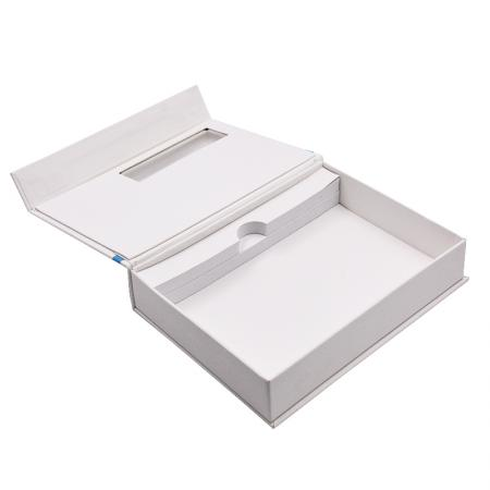 High-end Rigid Cardboard Gift Package Box With Clear PVC Window Box