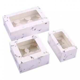 Free sample cupcakes box muffins box cake boxes with plastic window