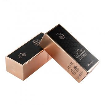 metallic ink printed cosmetics packaging color box with custom printing available
