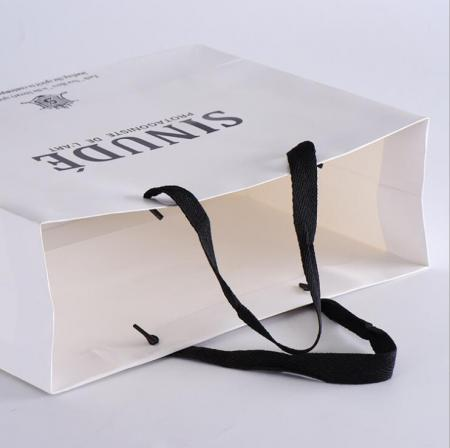 white kraft paper bag with logo printed for shopping