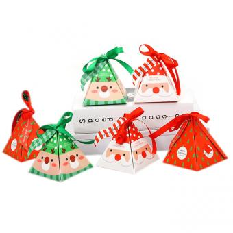 custom packaging box diy cardboard chocolate christmas ornament gift box for Merry Christmas
