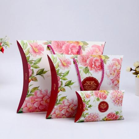 Different design size custom scarf paper pillow gift box