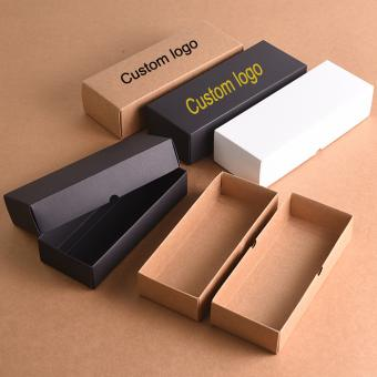 Disposable 350gsm Black Kraft paper food packaging box with logo Printed