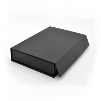 Black Color Rigid Cardboard Box Custom Logo Luxury Magnetic Paper Gift Box With EVA Insert