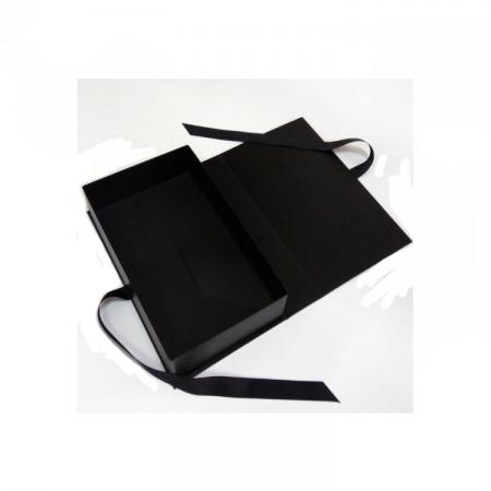 Black Luxury Customized Logo Folding Recycled Paper Cardboard Gift Box with Lid