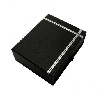 Custom Logo Printed Black Cardboard Drawer Style Packaging Gift Box