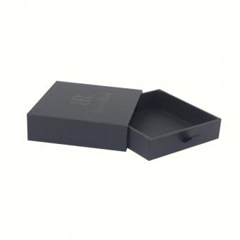 Pull Out Black Cardboard Paper Drawer Gift Jewelry Packaging Paper Box