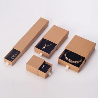 Wholesale custom kraft paper drawer jewelry packaging gift box