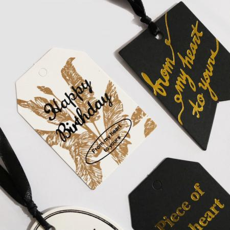 Custom Paper Hangtag Label Printing designs  with String