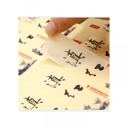 Company logo printing label paper adhesive sticker