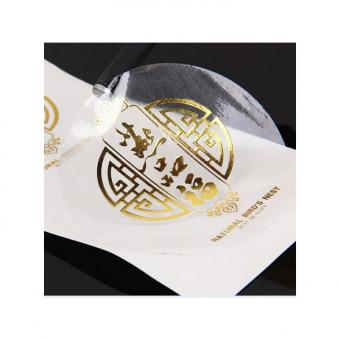 Self adhesive vinyl waterproof clear transparent label sticker with custom logo
