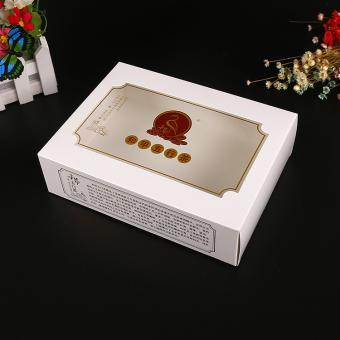 Full color printing high quality luxury recycled paper box with clear lid
