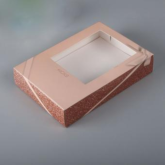 cosmetic gift set packaging box with window