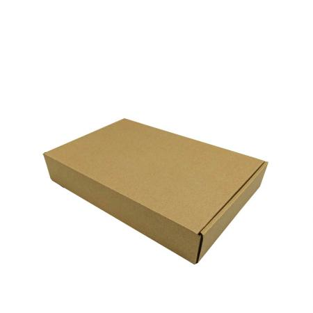 Custom logo high quality recycled brown e flute corrugated box with window