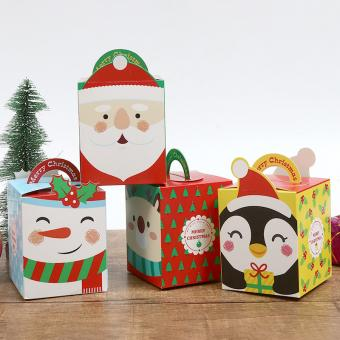 cartoon printing cardboard packaging folding gift box with ribbon