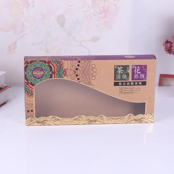 Custom-made Paper Box with PVC Window Creative little Fresh Package Box for Christmas Gift