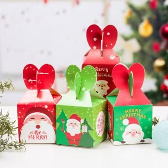 hot sale folding fancy printing Christmas gift paper box with window packaging