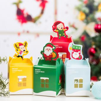 hot sale folding fancy printing Christmas gift paper box with window
