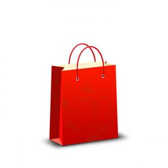High quality Custom Logo Red Advertising Storage Paper Bag With Handle