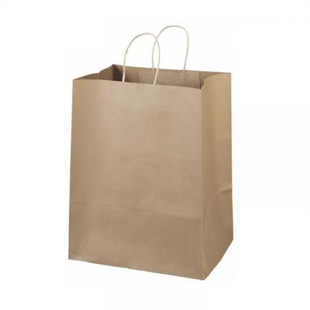 High quality cheap offset printing recycled shopping kraft brown paper bag