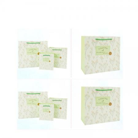 OEM 210 gsm printed fancy white solid recycled packaging paper bag