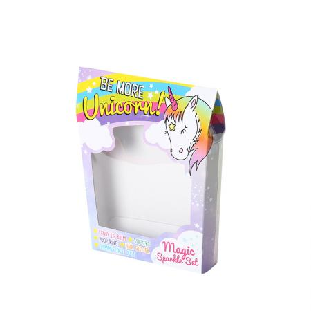 Fancy printing empty chocolate candy gift box with PVC clear window