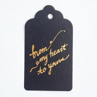 Custom Silk Screen Printing Cloth Hanging Tag with Grommet