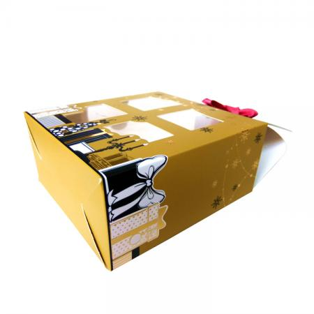 Custom printed gold foil hot stamping recycled paper bath bomb packaging box