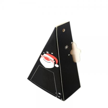 Luxury Black Cardboard Triangle Shape Gift Box for Packaging