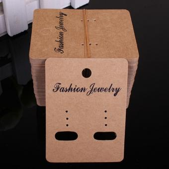 custom earring package kraft paper cards printing