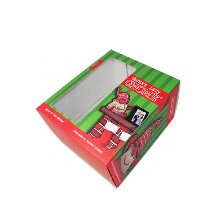 Custom Christmas Gift Doll Toy Packaging Boxes with Clear Window
