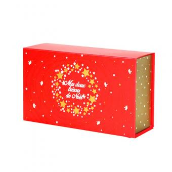 Luxury christmas rigid folding paper gift box with logo