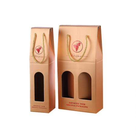 two bottles cardboard wine carrier corrugated paper packaging wine gift box