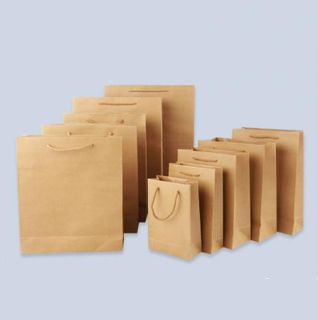 black reusable grocery promotional paper tote carrier bag wholesale