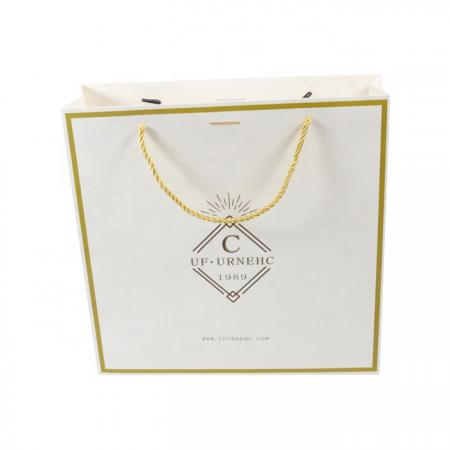 Carrier Bag Printed Shopping Paper Bag With Handle